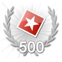 500 Bewertungen