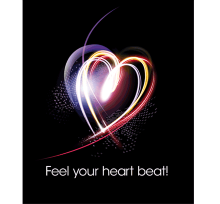 Feel your heart beat!