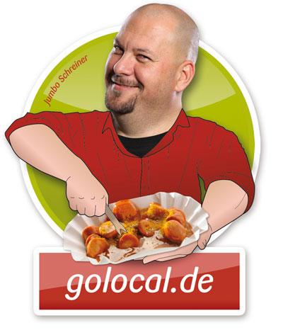 Jumbo Schreiner, seine Currywurst und golocal.de