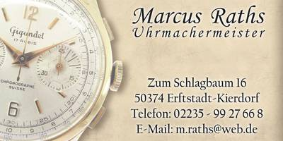 Raths, Marcus Uhrmachermeister in Erftstadt
