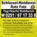 Schlüsseldienst Ratz Fatz 24 h Notdienst in Münster
