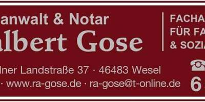 Adalbert Gose Rechtsanwalt u. Notar in Wesel