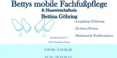 Bettina Göhring Mob. Fachfußpflege in Ebersdorf Stadt Neustadt bei Coburg