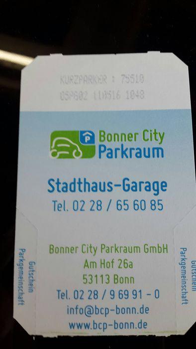 Bonner City Parkraum Gmbh In Bonn In Das Ortliche