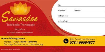 Sawasdee Thaimassage in Offenburg