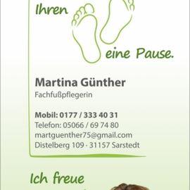 Bild zu Mobile med. Fußpflege Martina Günther in Sarstedt