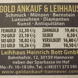 Leihhaus Heinrich Bott GmbH in Hannover
