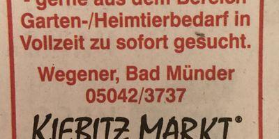 Kiebitzmarkt Wegener- Haus, Tier & Garten - Heizöl, Mineralstoffe - in Bad Münder am Deister