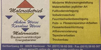 Malerbetrieb Weise Achim in Hannover