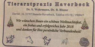 Wehrmann Susanne Dr. Tierarztpraxis in Haverbeck Stadt Hameln