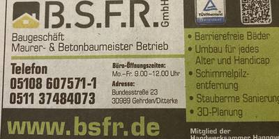 B.S.F.R. GmbH in Gehrden bei Hannover