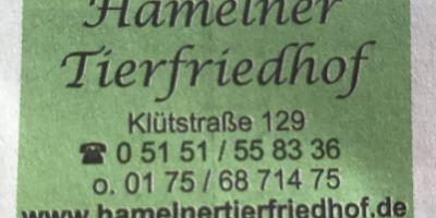 Hamelner Tierfriedhof in Hameln