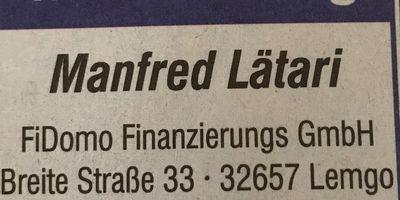 FiDomo Finanzierungs GmbH - Manfred Lätari in Lemgo