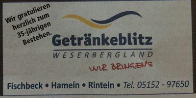 Getränkeblitz Maihöfer Getränkelieferservice in Flegessen Stadt Bad Münder