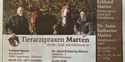 Tierarztpraxis Marten in Coppenbrügge