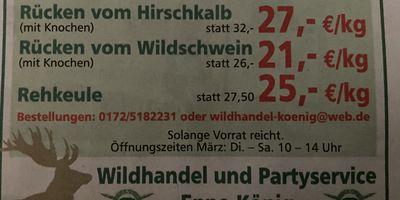 Wildhandel und Partyservice Enno König in Springe