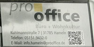 pro office Büro- u. Objekteinrichtung Vertr. GmbH in Hameln