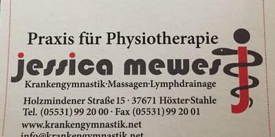 Mewes Jessica Praxis für Physiotherapie in Stahle Stadt Höxter