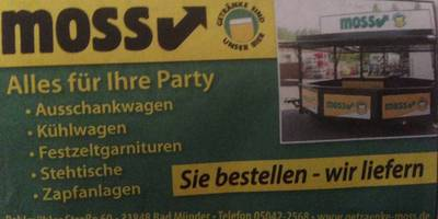Moß Getränkehandel in Bad Münder am Deister