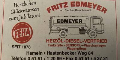 Ebmeyer Fritz Inh. Kernchen Mineralölvertrieb in Hameln