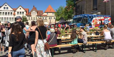 "Street food market ""Vollmund"" in Hameln"