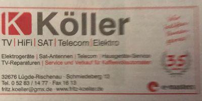Köller Fritz Fernsehen- Video-Meisterbetrieb in Rischenau Stadt Lügde