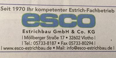 ESCO-Estrichbau Platte GmbH & Co. KG in Vlotho
