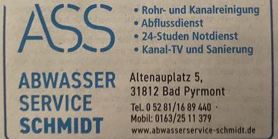 ASS - Abwasser Service Schmidt in Bad Pyrmont