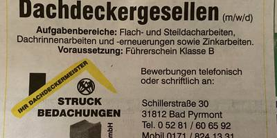 Struck Bedachungen GmbH Dachdeckerei in Bad Pyrmont