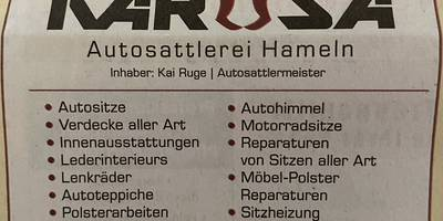 KaRuSa Autosattlerei in Hameln