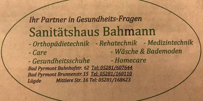 Sanitätshaus Bahmann in Bad Pyrmont