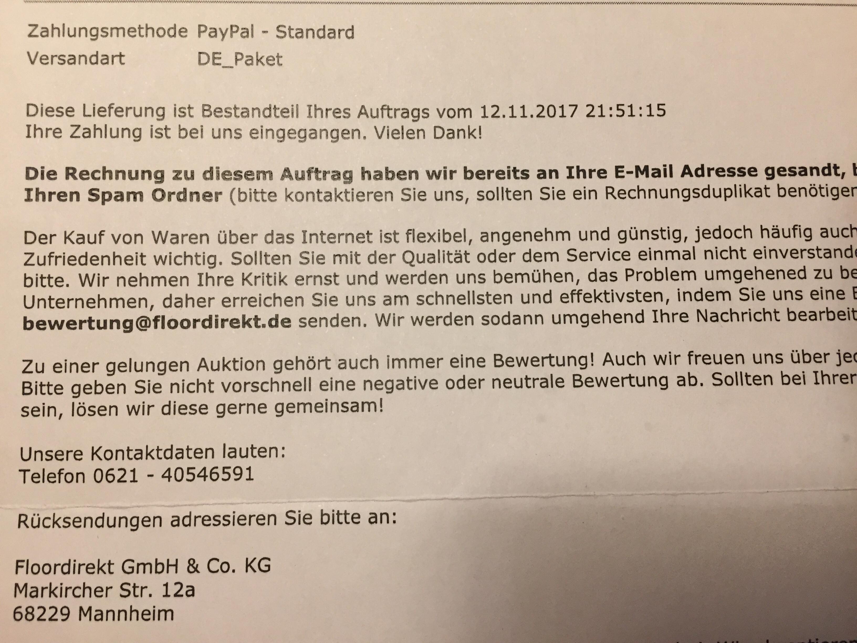 a60b5e7d ➤ Floordirekt GmbH & Co. KG 68229 Mannheim-Friedrichsfeld ...