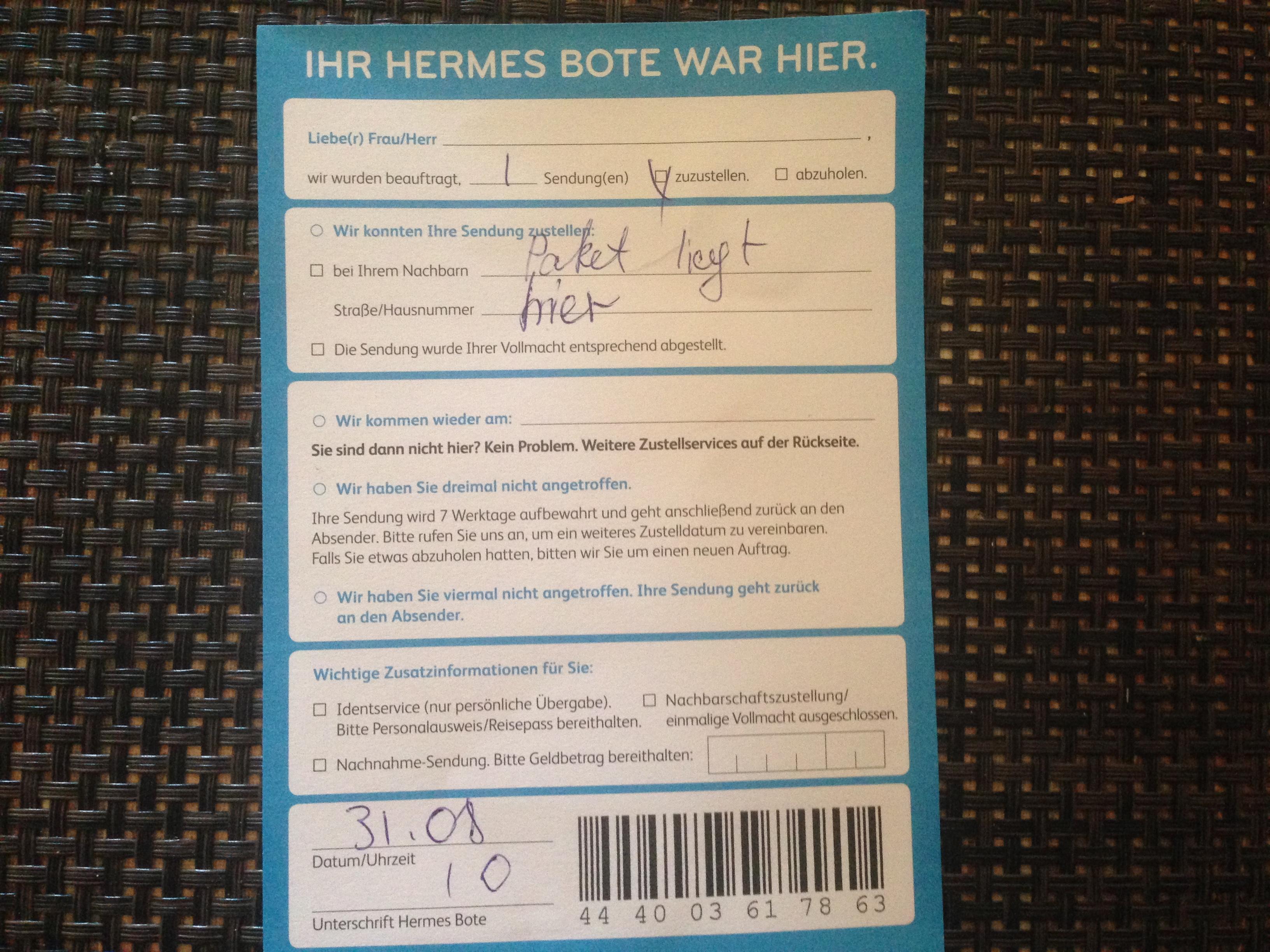 Hermes Lieferzeiten