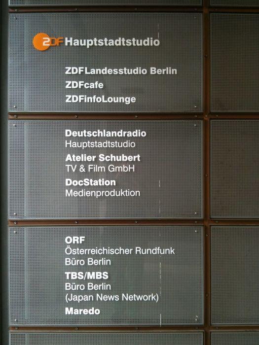 zdf zweites deutsches fernsehen hauptstadtstudio und. Black Bedroom Furniture Sets. Home Design Ideas