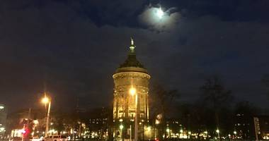 Wasserturm am Friedrichsplatz in Mannheim