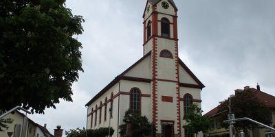 Evangelische Kirche und Pfarramt Unteröwisheim in Unteröwisheim Gemeinde Kraichtal