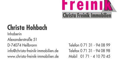 Christa Freinik Immobilien in Heilbronn am Neckar
