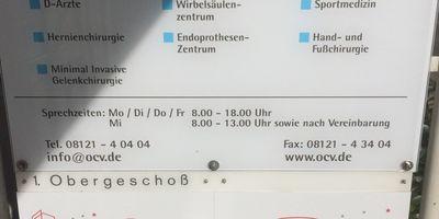 OCV Orthop.-chirurg. Versorgungszentrum Dres.med. Jaeger Grahmann Folk Röhrich Durchgangsärzte in Markt Schwaben
