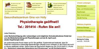 Gesundheitszentrum Gina von Holly Physiotherapeutin in Schweinfurt