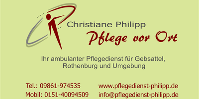ambulante Pflege Christiane Philipp in Rothenburg ob der Tauber