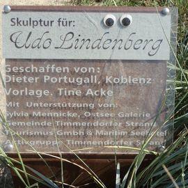 Udo-Lindenberg-Skulptur in Timmendorfer Strand
