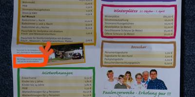 Campingparadies Sonnenwiese in Uffeln Stadt Vlotho