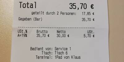 Restaurant Vier Jahreszeiten in Würzburg