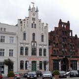 Marktplatz in Wismar in Mecklenburg