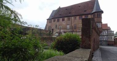 Historische Altstadt in Büdingen in Hessen