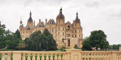 Schloss Schwerin in Schwerin in Mecklenburg