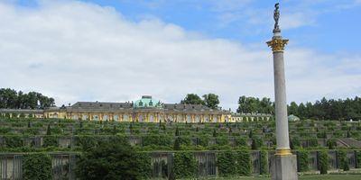 Schloss Sanssouci im Park Sanssouci in Potsdam