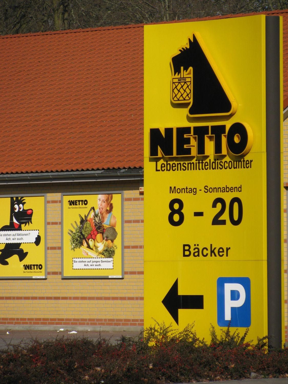 Netto Deutschland   schwarz gelber Discounter mit dem Scottie   20 ...