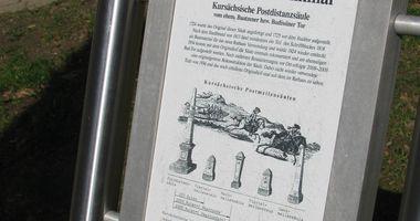 Kursächsische Postmeilensäule Bischofswerda in Bischofswerda