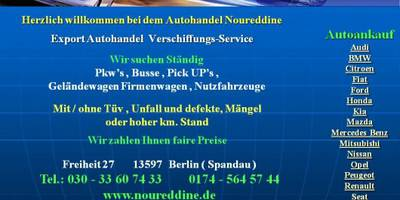 Autoankauf Berlin-Umland Autohandel Noureddine in Berlin